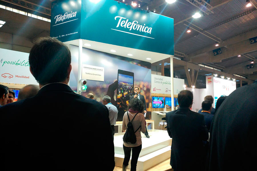 Stand de Telefónica para Smart City 2015 1