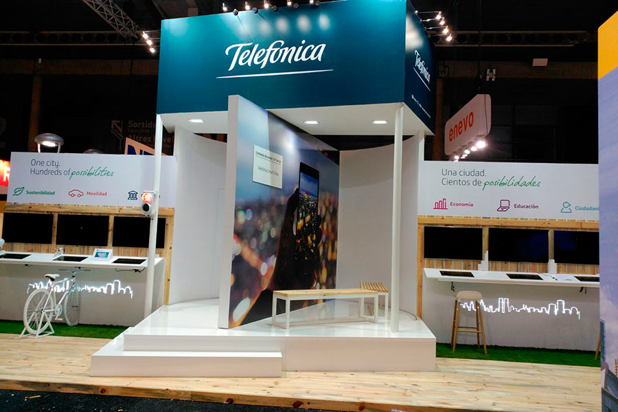 Stand de Telefónica para Smart City 2015 2