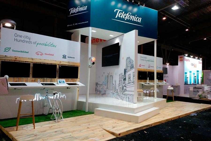 Stand de Telefónica para Smart City 2015 4