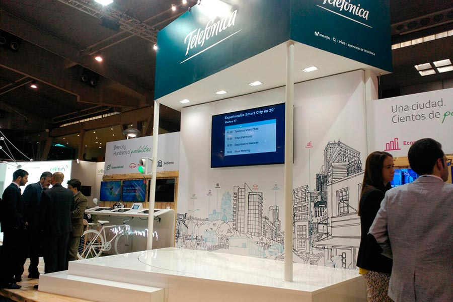 Stand de Telefónica para Smart City 2015 5